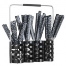 wholesale Knife Sets: housewife 24p geo + rc black, black