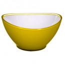 Ensaladera de ola amarilla de 19 cm amarilla