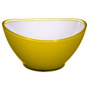yellow 19cm yellow wave salad bowl