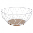 white diamond basket 28cm