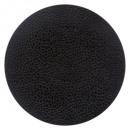 Borden plat bloemblad zwart 27cm