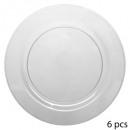 plate round x6 round modern 26cm