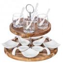 wholesale Houshold & Kitchen:acacia aperitif set 17p