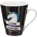 mug conique licorne 30cl, 4-fois assorti, couleurs