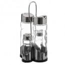 set oil vinegar salt / rack