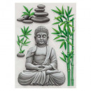 embossed sticker 50 x 30 buddha, 4- times assorted