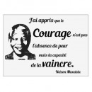 sticker txt 50x70 face mandela, noir