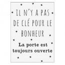 sticker txt 50x70 cle bonheur, noir