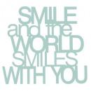 sticker mdf smile, 4-fois assorti, multicolore