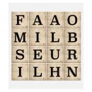 sticker relief lettres french, multicolore