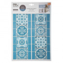 tiled sticker ara ara bl, blue