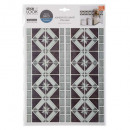 tiled sticker frise los gr, gray