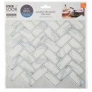 wholesale Wall Tattoos: marble tile sticker bl x2, white