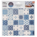 tiling sticker 36 c blue x2, blue