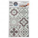 sticker caro ciment gr x2, 2-fois assorti, gris