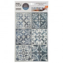cement tile sticker bl x2, 2- times assorted , bl