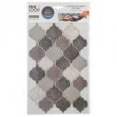 t calcomanías de azulejos orient ta x2, marrón top