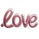 sticker ballon love rose, rose
