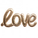 balloon sticker love gold, gold