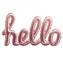 wholesale Wall Tattoos: pink hello balloon sticker, pink
