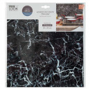 black marble plate sticker x2, black