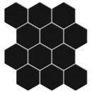 sticker caro 12 hex noir x2, noir