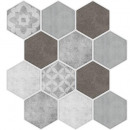 caro sticker 12 hex max g / g x6, gray