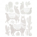 kids wall sticker 35x27, 4- times assorted , white