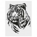30x40 jungle sticker, 3 maal geassorteerd , zwart
