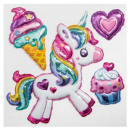 sticker balloon bow sky, 2- times assorted
