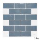 caro sticker blauwe baksteen x2, blauw