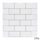 wholesale Wall Tattoos: caro sticker white brick x2, white