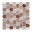 caro pti hexa brown x2 sticker, brown