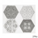 caro sticker 4 hexa gray x2, 2- times assorted , g