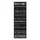 grossiste Cadeaux et papeterie: toile imprimée regles noir 30x90, noir