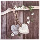 lienzo estampado corazón de romance 28x28, multico