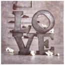 28x28 Love Romance vászon nyomtatás, színes