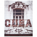 retro printed canvas cuba 38x48, multicolored