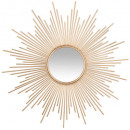 wholesale Mirrors: mirror sun tube gold d99, gold