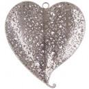 corazón de metal calado 17,5x16x3,5, plata