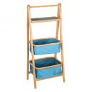 estante plegable 2 cestas azules
