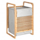 laundry basket bamboo latte gr