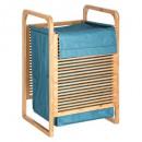 cesta de lavandería de bambú latte bl