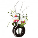 orchidee ceramic vase compo h44, 4- times assorted