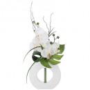 compo orch vase ceramique blanc h44, 2-fois assort