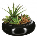 ceramic plant vase composition d20xh6, black