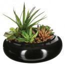 composición florero de cerámica d20xh6, negro
