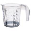 taza de medir 1l polipropileno gris, gris