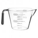 plastic measuring cup + tpr 400ml, gray