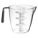 plastic measuring cup + tpr 900ml, gray